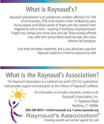 Raynaud's Information Cards