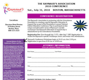 Raynaud's Conference Registration Form Graphic