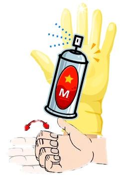 Glove-Spray-Finger Excercise