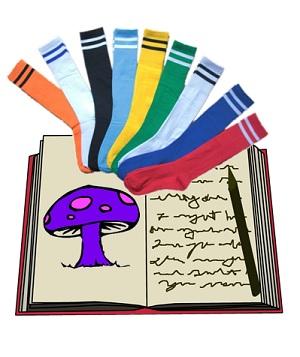Diary Mushroom Socks Graphic