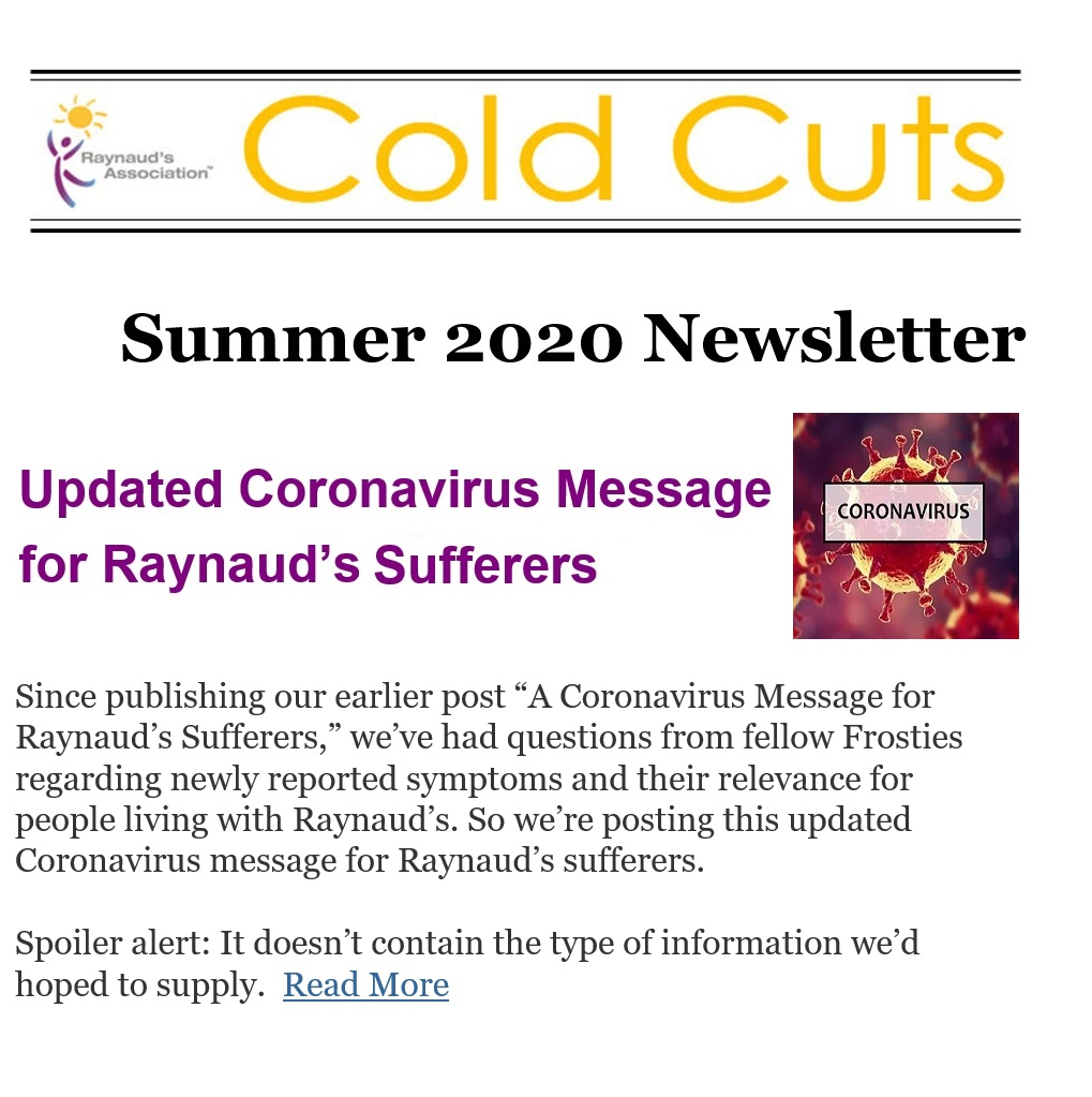 Cold Cuts Summer 2020 Newsletter
